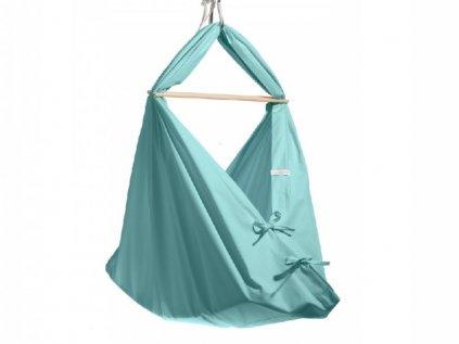 Kvalitní dětská houpačka - závěsná kolébka pro miminka v mentolové barvě