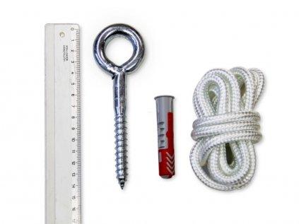 Systém pro uchycení závěsné textilní kolébky pro miminka a houpačky pro dospělé do stropu