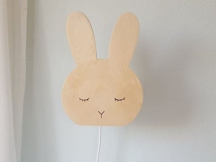dřevěné stínidlo na lampičku - králíček