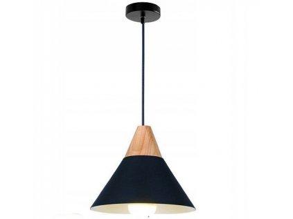 jednoduchý lustr se čirokým stínidlem ve skandinávském stylu