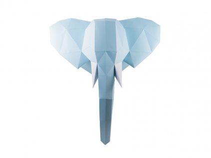 Krásná skládačka a papírová dekorace Slon