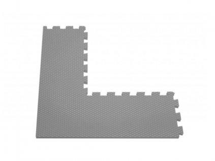 Tmavě šedý rohový dál k puzzle podložce pěnové