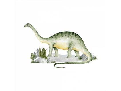 dekorativní samolepka na zeĎ do dětského pokoje - Brontosaurus