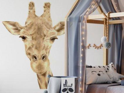 Samolepka na zeď do dětského pokoje Žirafa