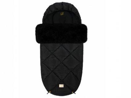 Zimní dětský fusak v elegantní černé barvě Černý diamant