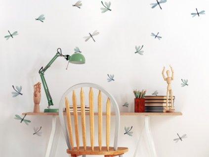samolepky na zeď pravěké vážky