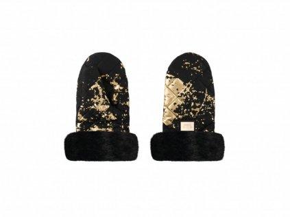 Hřejivé rukavice do mrazivého počasí Černé se zlatou