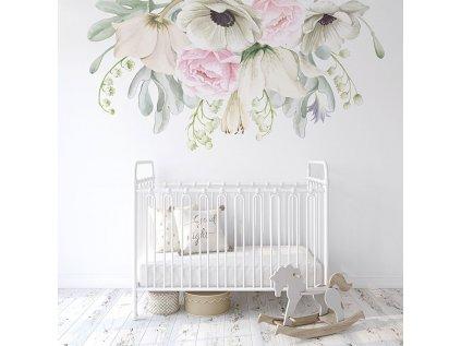 květy nálepka na zeď do interiéru
