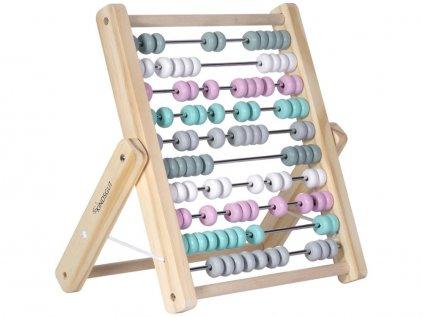 Kvalitní dřevěné kuličkové počítadlo pro děti