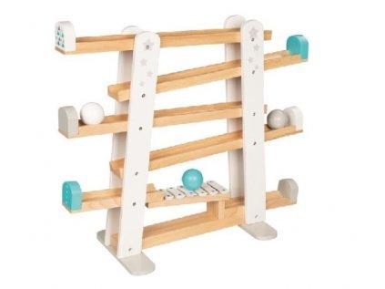 Zábavná dětská hra kuličková dráha s xylofonem