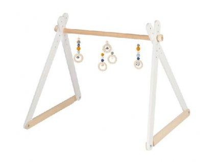 Kvalitní a velice stabilní dřevěná hrazdička pro malé děti (miminka)