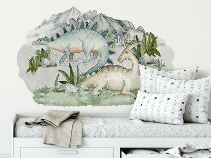 Dinosauří samolepky velké na zeď