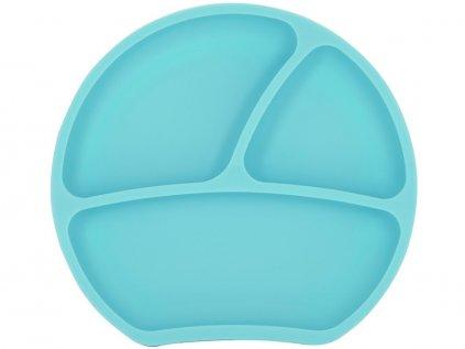 Mátový silikonový talíř pro děti