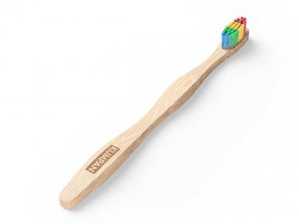 Duhový bambusový kartáček na zuby pro dospělé