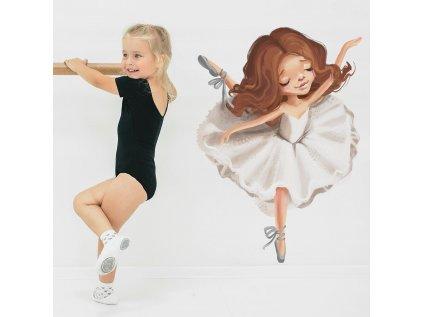 nálepka na zeď do dětského pokoje baletka