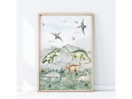 Plakát do dětského pokoje Dinosauři