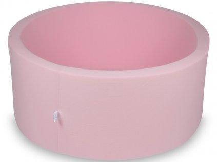 Pudrově růžový kulatý suchý bazén na balónky 90x40 cm bez míčků