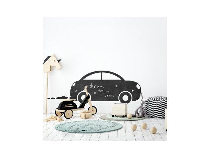 Nálepka na zeď tabule autíčko