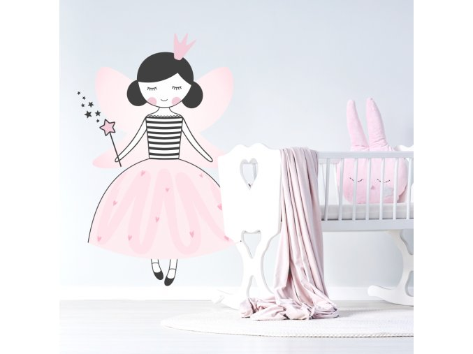designová nástěnná samolepka víly dodá dívčímu pokojíku pohádkově romantické kouzlo.