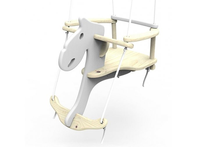 Originální dřevěná houpačka v neotřelém designu bude atraktivním a zábavným doplňkem dětského pokoje