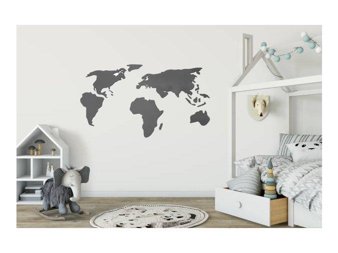 mapa sveta v pokojicku