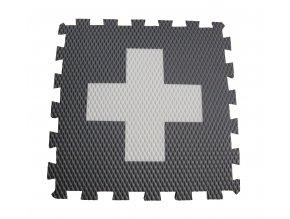 kříž bílý na šedé