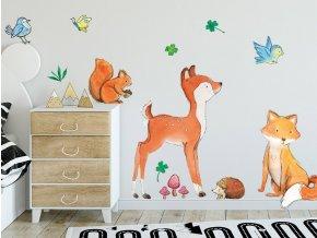 Nálepka na zeď lesní zvířátka
