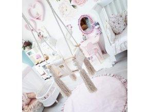 Dětská houpačka velvet swing krémová