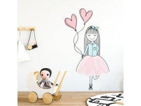 Nálepka na zeď barevné postavičky veselá Alenka