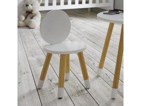Dětská židlička v originálním designu s kulatými tvary je praktickým nábytkovým doplňkem, vhodným do dětského pokoje i jídelny.