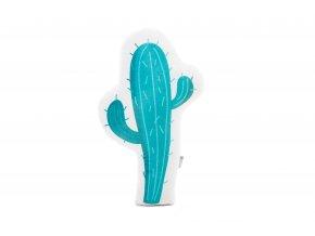 Designový polštářek ve tvaru kaktusu s potiskem bude dělat vašemu děťátku milou společnost v postýlce, kočárku i na cestách.
