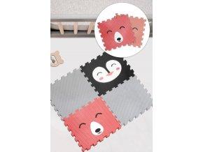 Měkký, teplý, originální koberec z pěnových dílků s obrázkem zvířátka