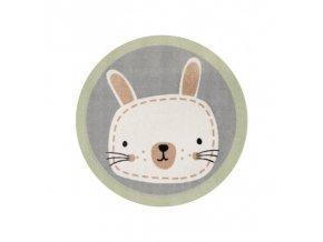 Dětský kulatý kusovvý koberec - Zajíc, zútulní každý dětský pokojíček