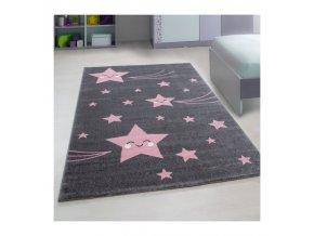 Dětský kusový koberec - Růžové komety ve 3 velikostech zútulní každý holčičí pokojíček