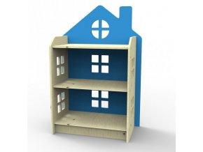 Knihovna dětská dřevěná modrá