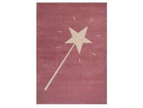 Krásný dětský koberec s kouzelnou hůlkou je jako stvořený pro malé kouzelnice