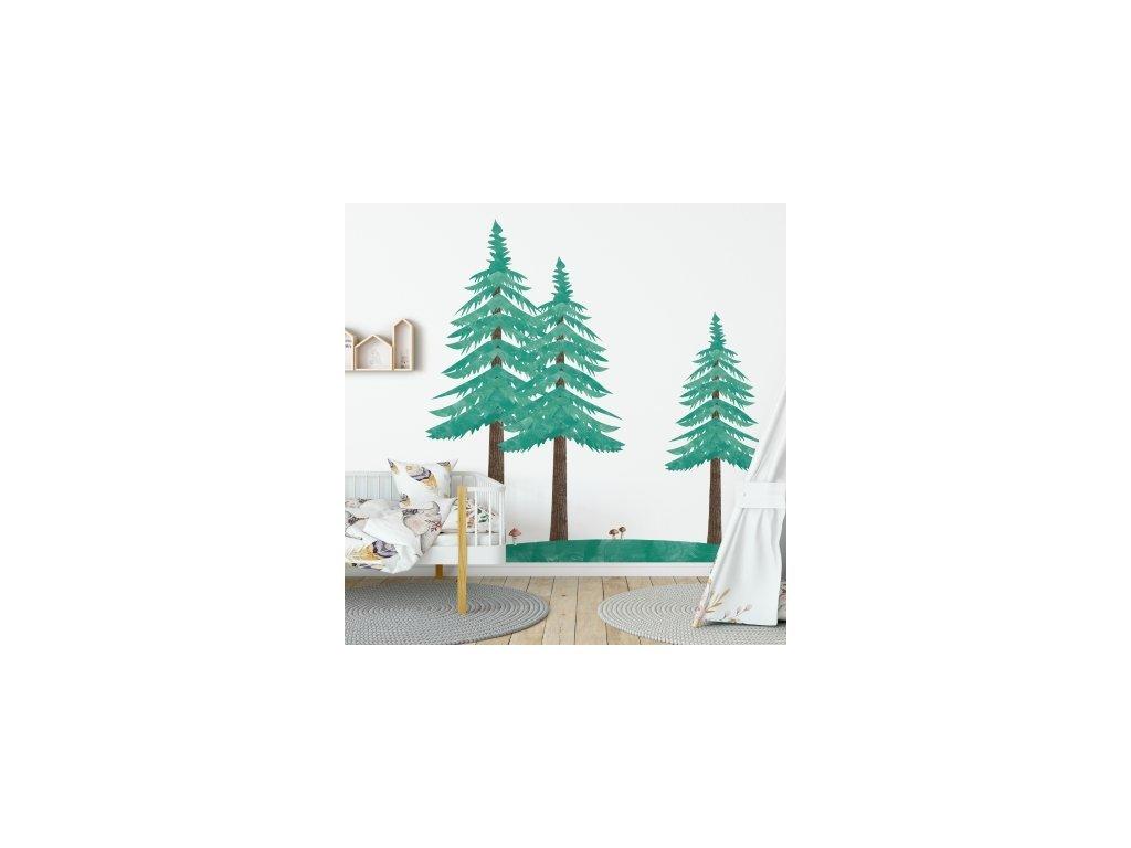Három fenyőfa falmatrica