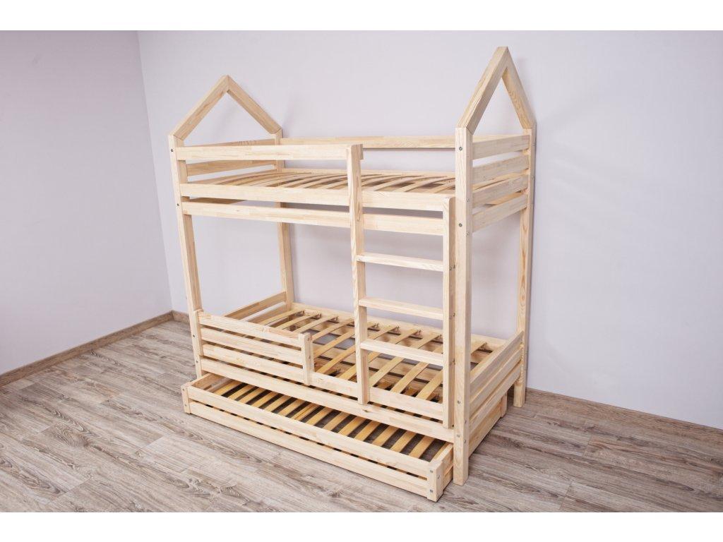 Emeletes házikó ágy választható alsó prémium leesésgátlóval