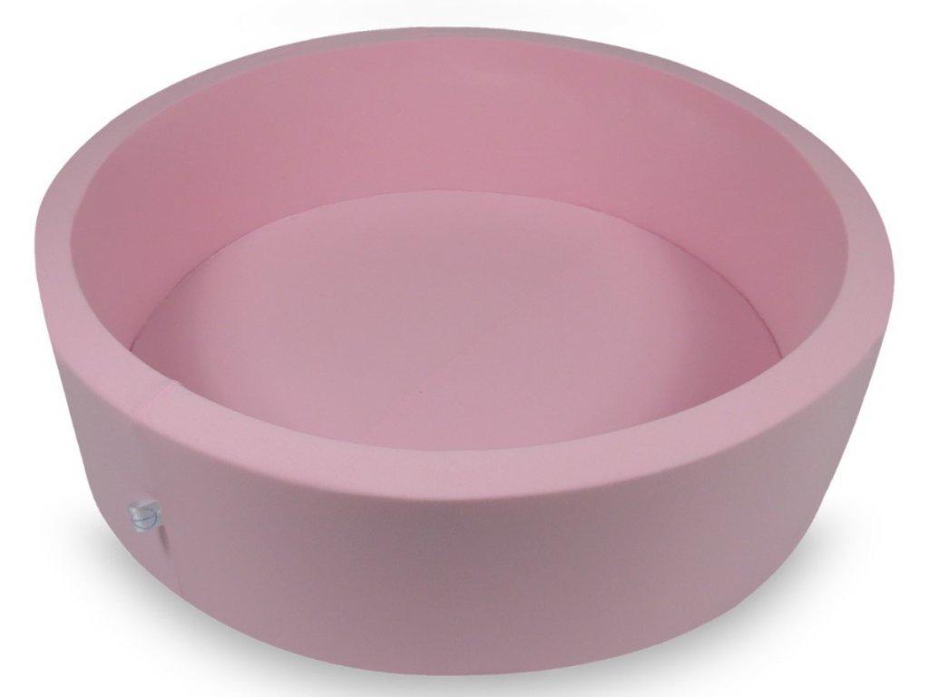 Száraz gyermekmedence 110x30 labdák nélkül kör alakú rózsaszín