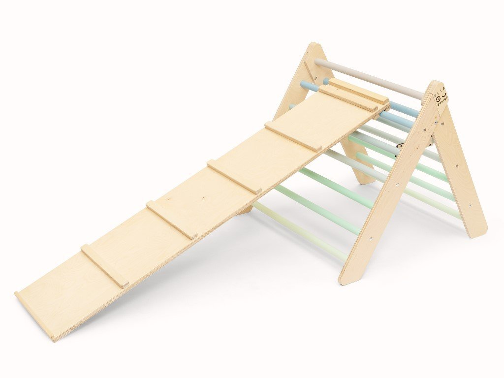 Nagyszerű montessori szett fiúknak Pikler háromszög és rámpa