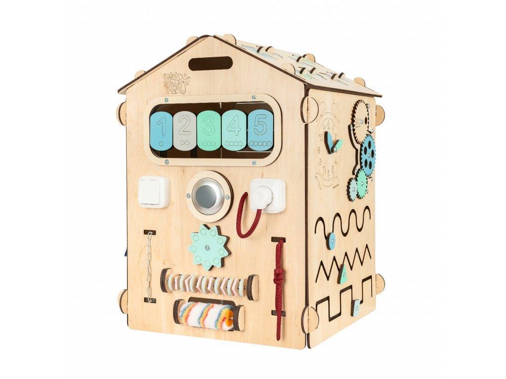 Activity board montessori házikó fiúknak Elis Design