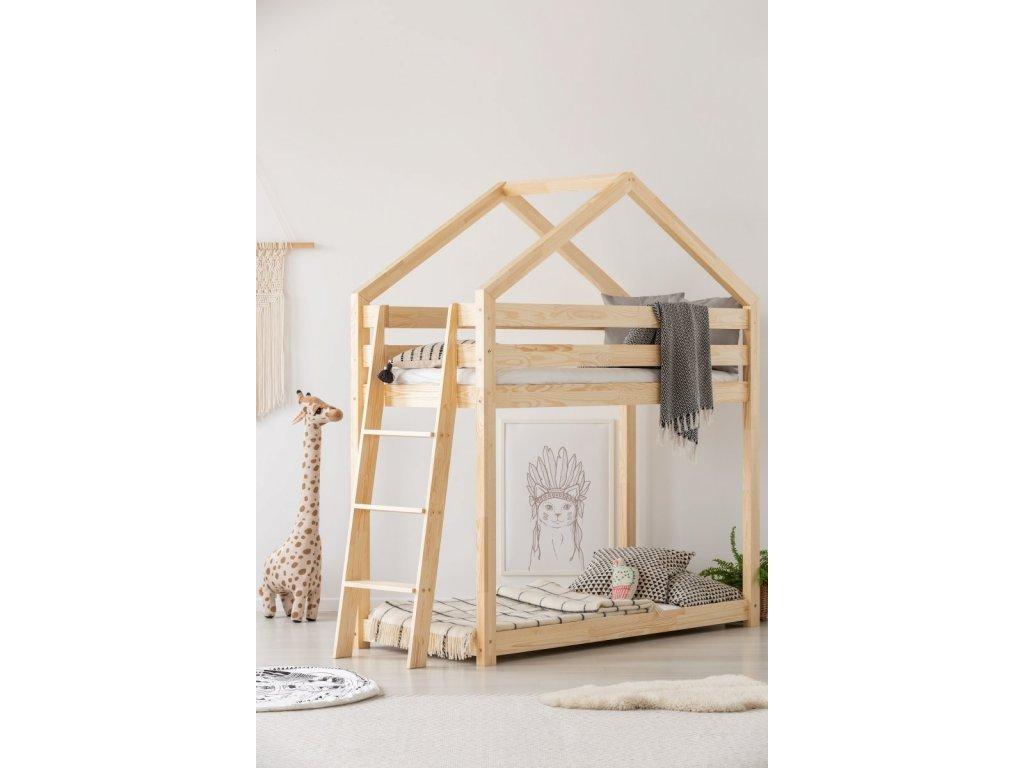 Kiváló, közkedvelt designú, házikó emeletes ágy a nyugodt alváshoz és a szórakozáshoz napközben