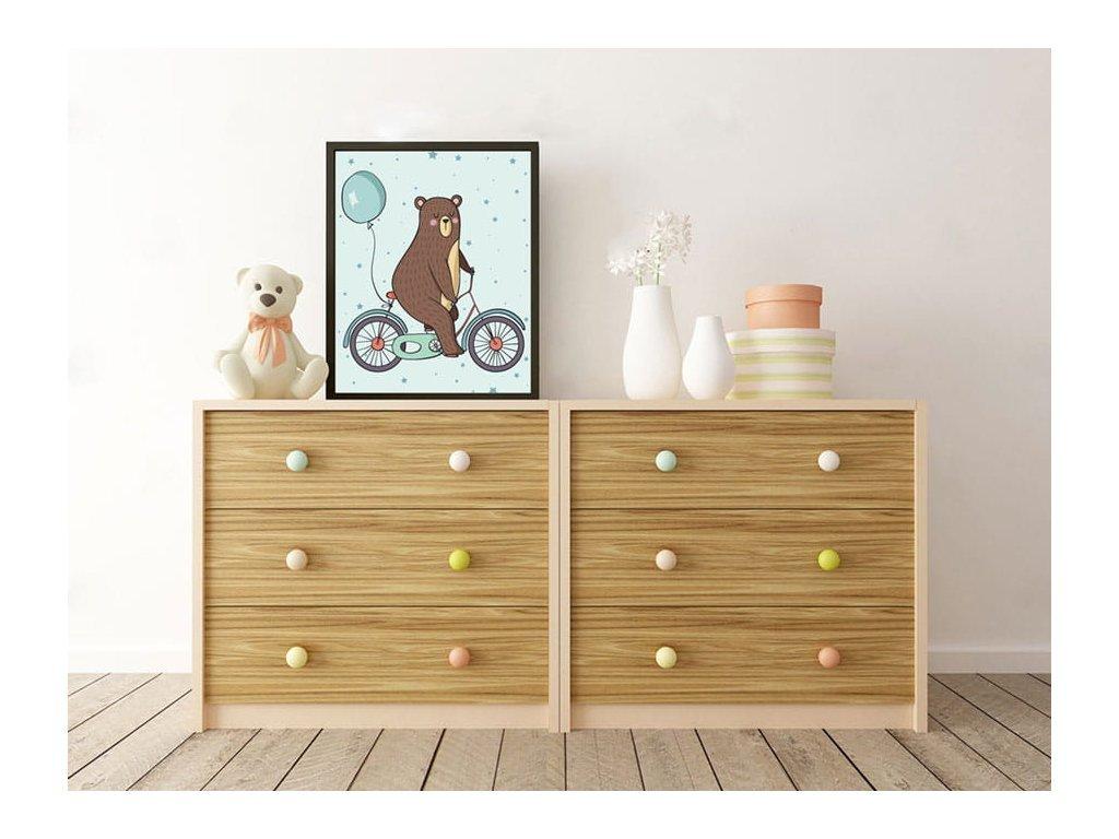 Plakát - Maci a biciklin