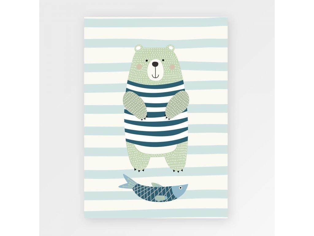 Plakát - Halászó medve