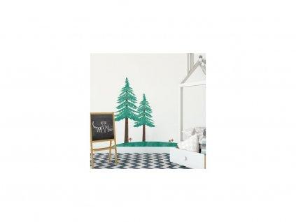 Falmatrica - erdei királyság - két fenyőfa