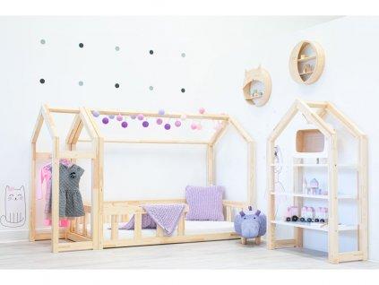 Házikó ágy premium leesésgátlóval és kiválasztható a lábacskák magassága