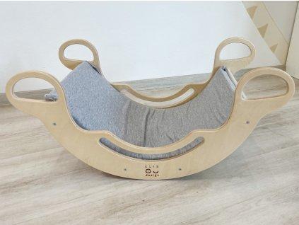 Rugalmas szürke huzat vagy párnázás a Montessori szivárvány hintához 5in1 ELIS DE-SIGN