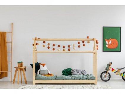 Közkedvelt designú házikó ágy gyerekeknek erős fenyőfából