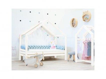 Domináns prémium házikó ágy választható leesésgátlóval fehér