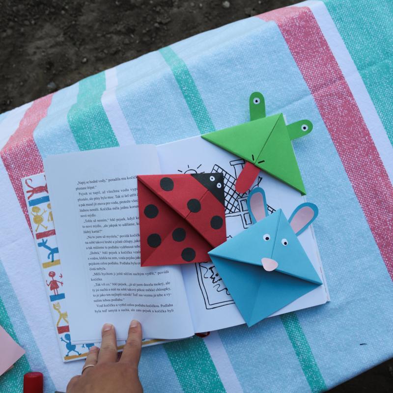 DIY - Záložky do knihy z papiera